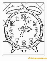 Clock Coloring Worksheets Pages Tick Tock Face Worksheet Printable Kindergarten Grandfather Clocks Template Education Faces Colouring Telling Cuckoo Numbers Craft sketch template