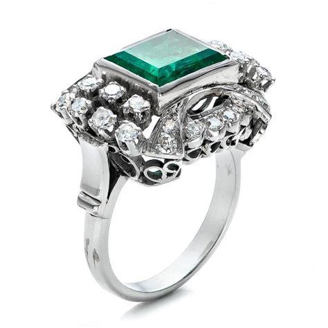 Emerald And Diamond White Gold Ring #100737  Seattle. Long Rings. Scottish Wedding Rings. Earring Engagement Rings. Spring Wedding Rings. Engaged Couple Wedding Rings. Unusual Vintage Engagement Wedding Rings. Hoopsister Wedding Rings. Fantasy Rings