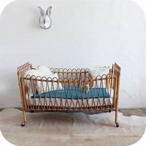 Lit Bébé Vintage : mobilier vintage lit b b rotin vintage atelier du petit parc ~ Dode.kayakingforconservation.com Idées de Décoration