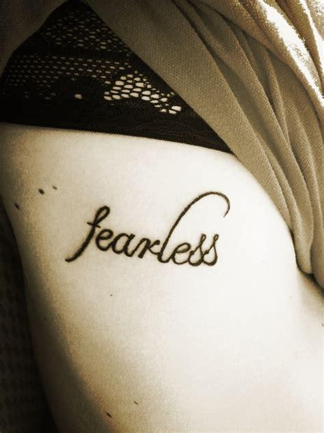 fearless quotes tattoos quotesgram