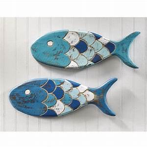 7 wooden fish wall decor ideas for your beach house With fish wall decor