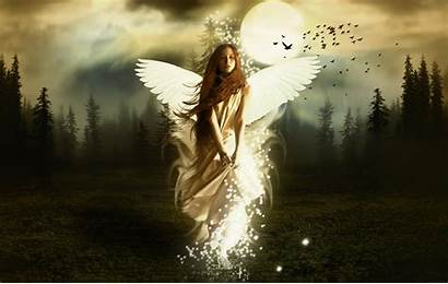 Angels Wallpapers Angel Heaven Wings Guardian Woman