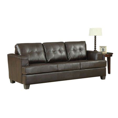 Brown Leather Sleeper Sofa by Acme Platinum Tufted Sleeper Sofa In Brown Bonded Leather