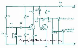 Wireless Mic Amplifier Circuit Digram