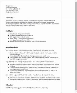 Sample Financial Controller Resume Financial Controller Resume Template Best Design Tips