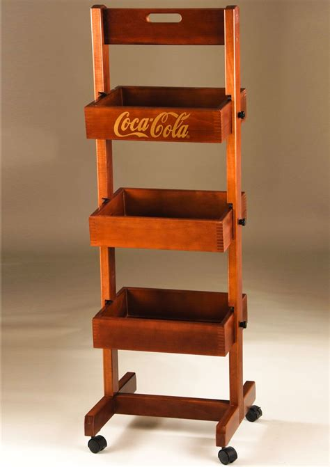 movable wooden display rack dunning displays
