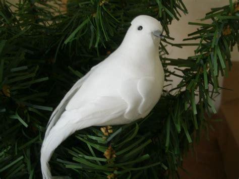 lot   white dove feather mushroom birds christmas