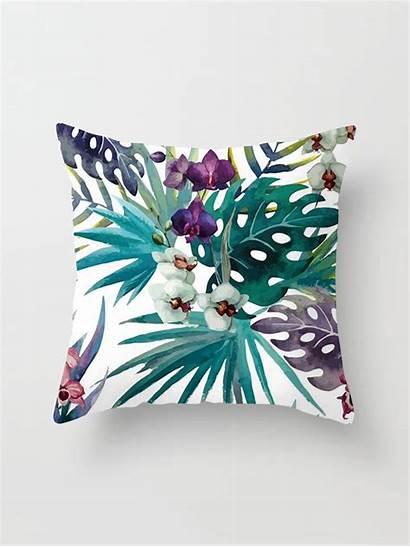 Decorative Pillows Tropical Pillow Cushion Palm Throw