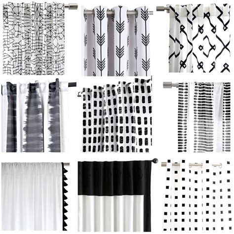 Kitchen Curtains Ideas - my favorite black and white curtains cuckoo4design