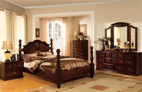 tuscan ii glossy dark pine poster bedroom set