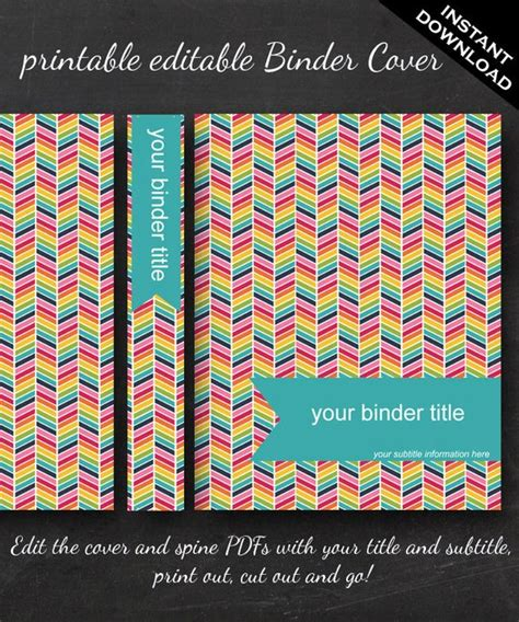 editable binder cover templates unavailable listing on etsy