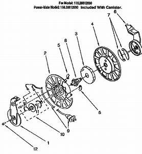 Power Cord Reel Diagram  U0026 Parts List For Model 11626612690 Kenmore