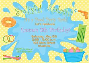 Birthday Pool Party Clipart - Clipart Suggest