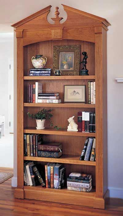 federal bookcase woodworking plan  wood magazine