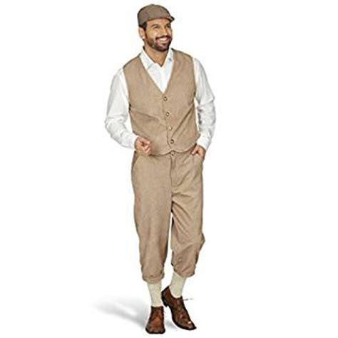 kleidung herren 20er jahre herren kost 252 m zeitungsjunge paper boy anzug kost 252 mset 20er jahre weste und kniebundhose beige