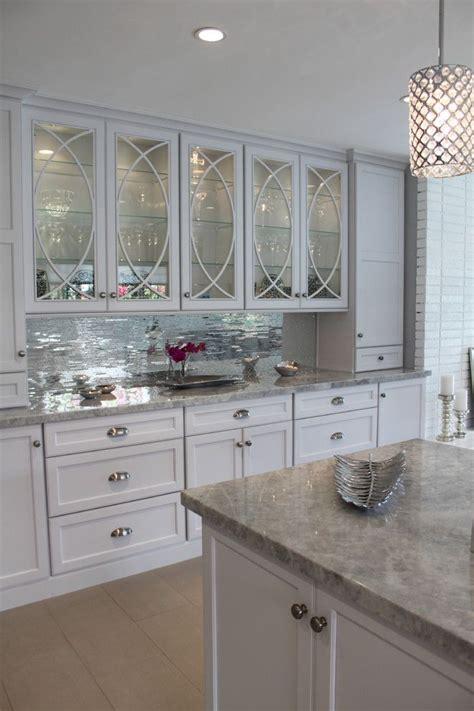 mirrored glass kitchen cabinets mirrored tiles backsplash kitchen white kim kardashian