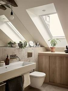 Remodeling, Small, Bathroom, With, Slanted, Ceiling