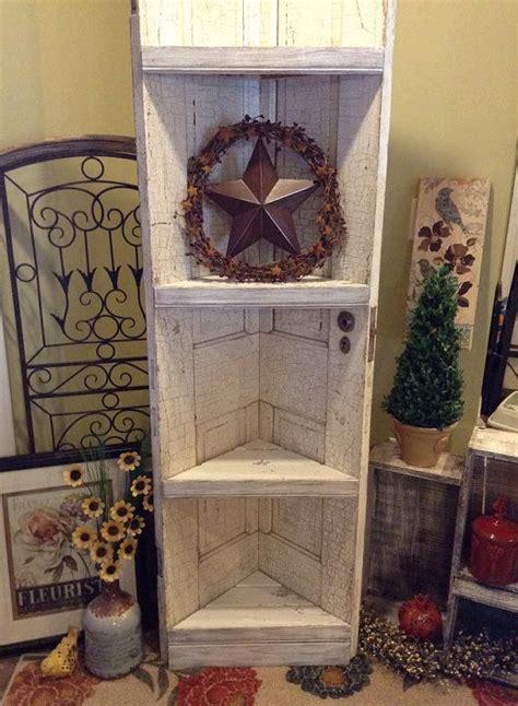 reclaimed  door corner shelf door corner shelves