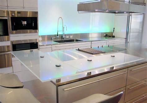 plan de travail cuisine verre plan de travail en verre
