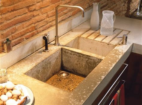 concrete kitchen sink warm and welcoming 18th century house decoholic 2431
