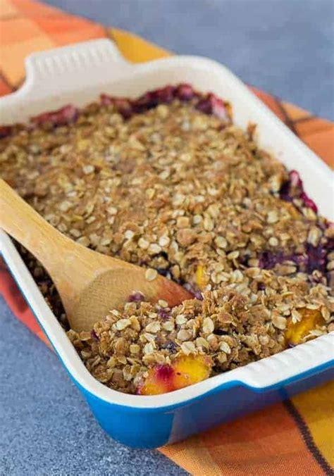 peach blueberry crisp recipe rachel cooks