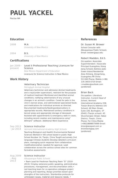 Veterinary Resume Samples  Visualcv Resume Samples Database. Cover Letter For Cv Hospitality. Curriculum Vitae Vs Resume Comparison. Resume Summary Examples Welder. Sample Cover Letter Human Resources Administrative Assistant. Resume Summary Network Engineer. Resume Skills Profile. Application For Employment Exchange Renewal. Cover Letter For Project Management Specialist