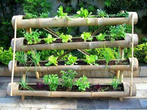Bamboo Vertical Garden by Vertical Gardening Pots Planters And Container