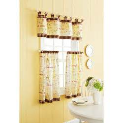better homes and gardens cafe kitchen curtain set decor