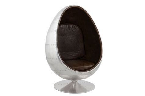 siege oeuf pas cher fauteuil oeuf aluminium et simili cuir marron carlingue