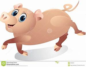 Funny Pig Cartoon Stock Image - Image: 22989221