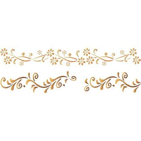 pochoir pour frise quot fleurs n 176 128 quot les decoratives tous les produits pochoirs prixing