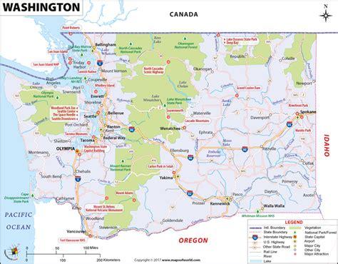 washington map map  washington  state wa map