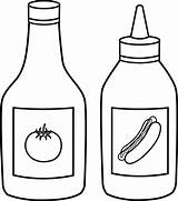 Sauce Clip Coloring Outline Pages Mustard Clipart sketch template