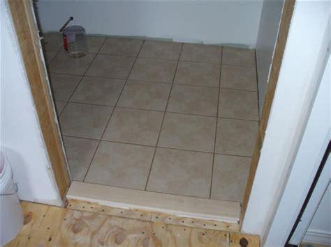 tile doorway threshold exterior door threshold