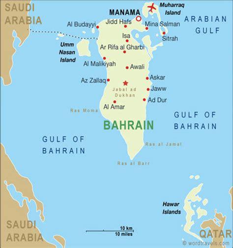 Bahrain Map and Bahrain Satellite Images