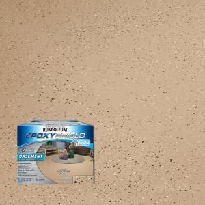 Rust Oleum EpoxyShield 1 gal. Tan Satin Basement Floor