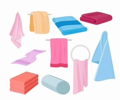 Cloth Towel Wash Towels Vector Illustration Cartoon