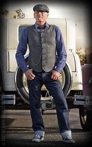 Style Rockabilly Homme : rumble59 vintage weste atlantic city fischgrat grau schwarz aesthetic rockabilly gent ~ Dode.kayakingforconservation.com Idées de Décoration
