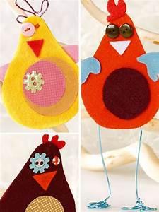 Poule Pour Paques : fabriquez avec les enfants des poules en feutrine pour le ~ Zukunftsfamilie.com Idées de Décoration