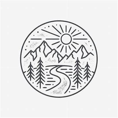 Tattoo Circle Drawing Drawings Easy Simple Landscape
