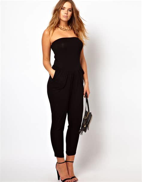 womens jumpsuit black strapless jumpsuits dressed up