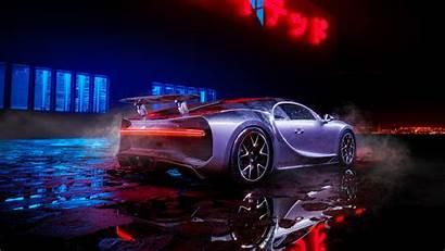 Bugatti Chiron Neon Wallpapers Lights Cars Desktop