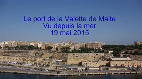 le port de la valette de malte vu depuis la mer lc