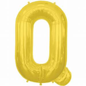 Gold letter q 16 inch foil balloon for 16 inch gold letter balloons