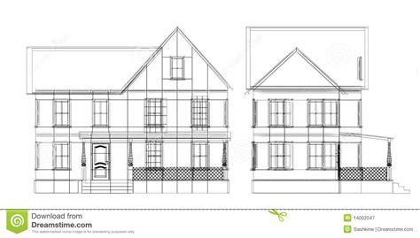 House Blueprint Royalty Free Stock Photography