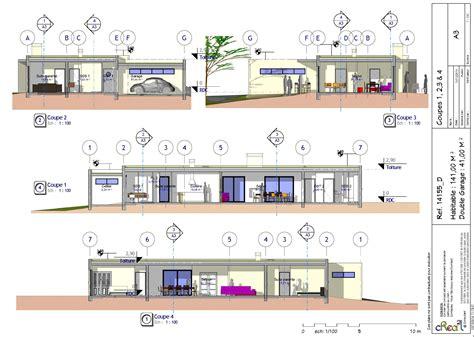cuisine adorablement plan maison plain pied plan maison plain pied 4 chambres plan maison