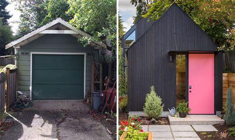backyard garage  transformed