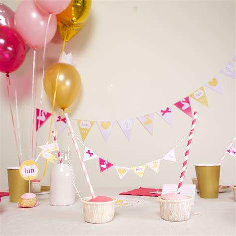 chambre fille et blanc décoration anniversaire 1 an fille kit theme cygne achat