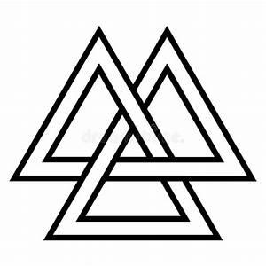 Dessin Symbole Viking : symbole de valknut viking age culture de guerrier des norses d 39 l ment de dessin g om trique ~ Nature-et-papiers.com Idées de Décoration