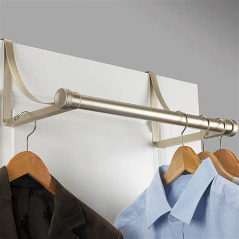 the door metal closet rod nickel in closet rods and